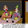 Cartoon: Clowns (small) by Karsten tagged bars,kneipen,gastronomie,trinken,alkohol,alkoholmissbrauch,alkoholsucht,konflikte,gewalt,clowns,freizeit,gesellschaft,deutschland