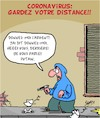 Cartoon: Corona - Gardez votre distance!! (small) by Karsten tagged corona,sante,distance,politique