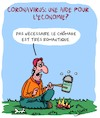 Cartoon: Corona et Chomage (small) by Karsten tagged coronavirus,economie,politique,industrie,production,sante,chomage