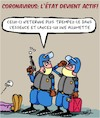 Cartoon: Corona Precaution (small) by Karsten tagged precaution,corona,sante,gouvernement,politique,police