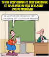 Cartoon: La peur... (small) by Karsten tagged ecole,education,professeurs,diligence,paresse,religion
