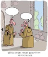 Cartoon: Les Moines (small) by Karsten Schley tagged moines,religion,monasteres,voeux,foi,christianisme