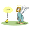 Cartoon: Mama? (small) by Karsten tagged religion,mythen,legenden,christentum,bibel,kirche,tiere,küken,engel