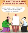 Cartoon: Mauvais... (small) by Karsten tagged art,pantomimes,peintres,talent,profs