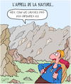Cartoon: Nature... (small) by Karsten tagged environnement,ordures,pollution,plastique,tourisme,voyages,montagne