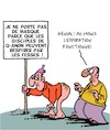 Cartoon: Pas besoin de masque! (small) by Karsten tagged masques,corona,covid19,qanon,societe,sante,politique