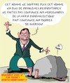 Cartoon: Pierres de Guerison (small) by Karsten tagged medicine,covid19,charlatans,fake,news,sante,argent,internet,crime,politique