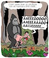 Cartoon: Quel cri! (small) by Karsten tagged tarzan,jungle,litterature,cinema,divertissement,medias,bd,animaux