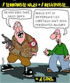 Cartoon: Terroristes Nazi (small) by Karsten tagged nazis,terroristes,politique,meurtre,crimes,securite,minorites,racistes