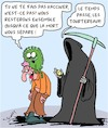 Cartoon: Vaccination (small) by Karsten tagged covid19,coronavirus,vaccination,sante,politique,mort,opposants,societe