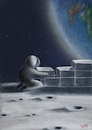 Cartoon: WALL (small) by artugurarslan tagged astronaut,wall,moon