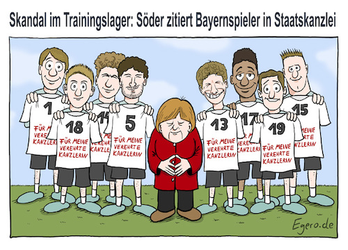 Cartoon: Skandal (medium) by Egero tagged skandal,fußball,wm,söder,scandal,soccer,world,cup,2018