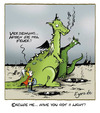 Cartoon: smoking kills (small) by Egero tagged fire,dragons,light,smoking,kills,rauchen,feuer,drache,egero,oliver,eger
