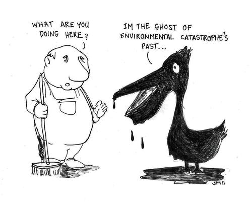Cartoon: The Ghost of Disasters Past (medium) by urbanmonk tagged environment