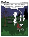 Cartoon: MINDFRAME (small) by Brian Ponshock tagged ghost,cemetery,graves