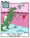 Cartoon: MINDFRAME (small) by Brian Ponshock tagged trex,soap,shower