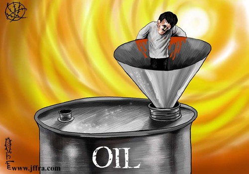 Cartoon: Oil (medium) by sabaaneh tagged arab,oil