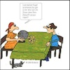 Cartoon: Die Wahrsagerin Cartoonserie (small) by Amokkritzler tagged wahrsager,scharlantanerie