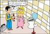 Cartoon: Verstopfte Toilette (small) by Amokkritzler tagged klempner,toilette,verstopft