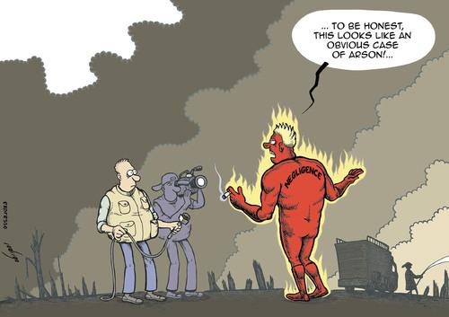 forest fires de rodrigo naturaleza cartoon toonpool