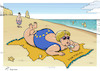 Cartoon: Eurobeach (small) by rodrigo tagged portugal tourism angela merkel europe european union united kingdom uk beach summer vacation