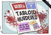 Cartoon: News from the Other World (small) by rodrigo tagged news,of,the,world,tabloid,newspaper,uk,rupert,murdoch