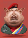 Cartoon: hugo chavez (small) by alvarocabral tagged caricature,caricatura