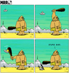 Cartoon: MRR 8 EN (small) by Yavou tagged stupid,bird,mrr,comicstrip,stoneage,ufo,unidentified,flying,object,saucer,caveman,bat,extra