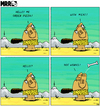 Cartoon: MRR 2 EN (small) by Yavou tagged mrr,comicstrip,cartoon,caveman,prehistoric,bone,order,pizza,telephone,phone,phonecall
