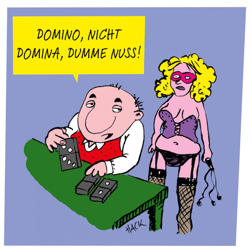 Cartoon: Spieleabend (medium) by ichglaubeshackt tagged domino,domina,spieleabend,spiel