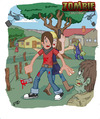 Cartoon: Zombie Residenz (small) by embe tagged zombie,monster,horror