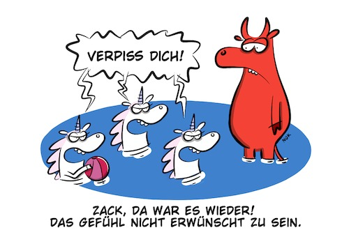 Cartoon: Einhorn (medium) by klaartoons tagged einhorn,letztes,roger,stier,film