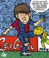 Cartoon: Lionel Messi Balon de Oro 2010. (small) by lexgromiko tagged lionel,messi,balon,oro,2010,barcelona