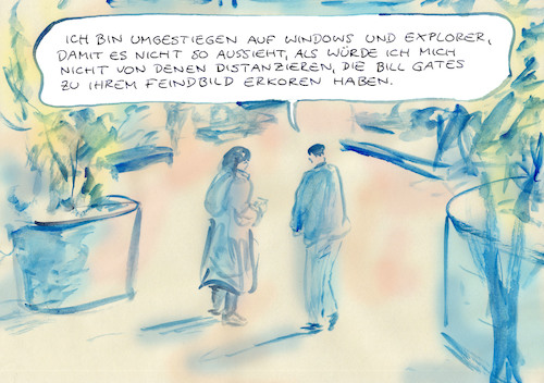 Cartoon: abgegrenzt (medium) by Bernd Zeller tagged internet