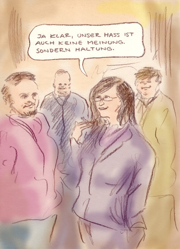 Cartoon: Der Unterschied (medium) by Bernd Zeller tagged linke