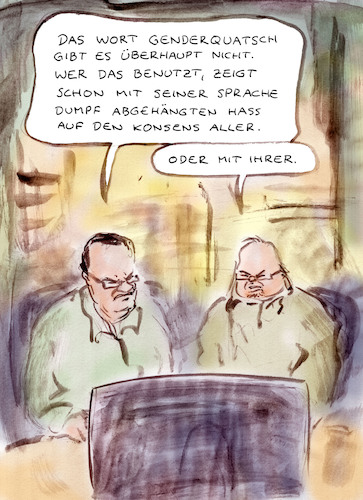 Cartoon: Einzelsprache (medium) by Bernd Zeller tagged sprache