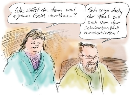 Cartoon: Finanzplan (medium) by Bernd Zeller tagged arbeit