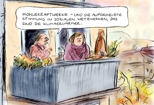Cartoon: Klimakonferenz (medium) by Bernd Zeller tagged klimaerwärmung