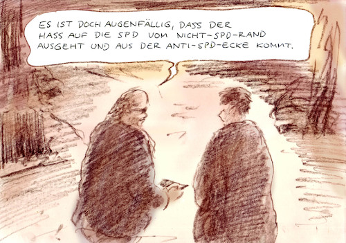 Cartoon: Typisch (medium) by Bernd Zeller tagged spd