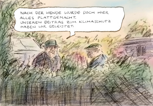 Cartoon: Wendevorteil (medium) by Bernd Zeller tagged wende