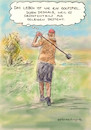 Cartoon: Golfmetapher (small) by Bernd Zeller tagged golf