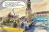 Cartoon: Weimartatort (small) by Bernd Zeller tagged tatort,weimar,tschirner,ulmen