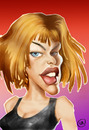 Cartoon: MILLA JOVOVICH (small) by Nenad Vitas tagged actres,film,hollywood,resident,evil