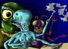 Cartoon: Space Gaming (small) by Vohwinkel Illustrations tagged aliens games videogames space