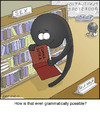 Cartoon: Comma (small) by noodles tagged grammar,sex,comma,bookstore,kama,sutra