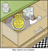 Cartoon: Junk Drawer (small) by noodles tagged boxing,junk,drawer,mike,tyson,ear,pigeon