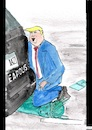 Cartoon: Der Präsident kniet (small) by Stefan von Emmerich tagged vote him away donald trump dump president america the liar tweets tonight