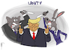 Cartoon: Unity (small) by NEM0 tagged gop rnc dnc anti trump unity republicans democrats us politics death threats coup etat indictment impeach impeachment amendment 25 nem0 nemo