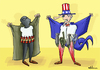 Cartoon: Terrorists (small) by elihu tagged terrorism,bomb,war,usa
