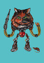 Cartoon: robocat (small) by Battlestar tagged illustration painting katze cat animals tiere fiction